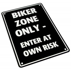 "Parking Sign ""Biker Zone Only"""