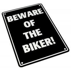"""Parking Sign """"Beware Of The Biker!"""""""
