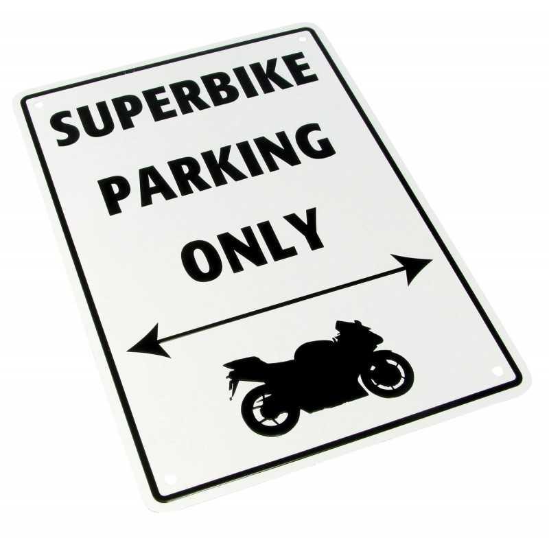 """Parking Sign """"Superbike Parking Only"""""""