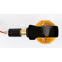 Shin-Yo Knipperlichten stuur Ossenoog zwart (stuureinde)