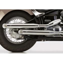 FALCON | Cromo Line 2 demper rechts incl. 1 bocht (cilinder achter)
