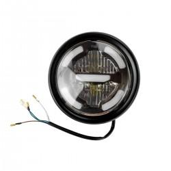 Koplamp LED Zwart ø160mm (E2)