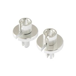 Bike It Cable Adjuster Standard Type Chrome 8mm Thread - Pair
