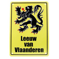 Leeuw van Vlaanderen (or Lion Of Flanders) Replica Road Sign