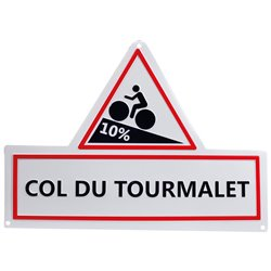 Col du Tourmalet Replica Road Sign