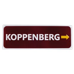 Koppenberg Replica Road Sign