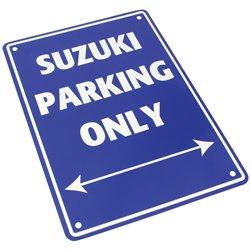 Bike It Aluminium Parking Sign - Suzuki Parking Only