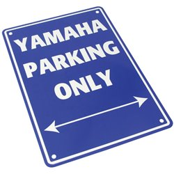 Bike It Aluminium Parking Sign - Yamaha Parking Only
