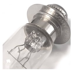 Bike It 12V 35/35W Bulb Double Filament T9mm P15D-25-1 Halogen H6M