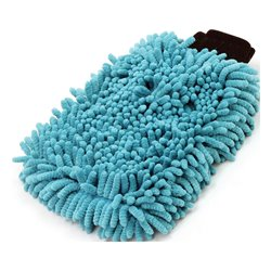 BikeTek 2-IN-1 Long-Pile Chenille & Sponge Wash Mit