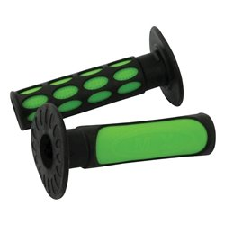 Bike It 2-Tone MX Grips Green / Black