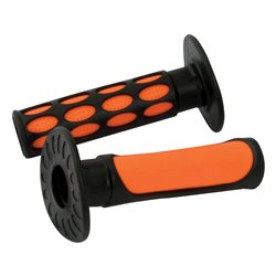 Bike It 2-Tone MX Grips Orange / Black