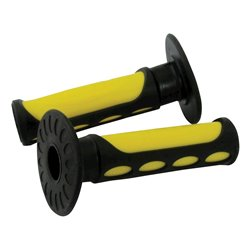 Bike It 2-Tone MX Grips Yellow / Black