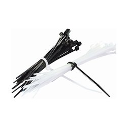 """Bike It Cable Ties 7"""" Long White 20 Pieces"""