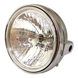 """Headlight Universal 7"""" Round Chrome"""