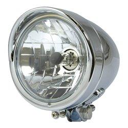 """Universal Bullet Chrome Headlight 4�"""" H4"""