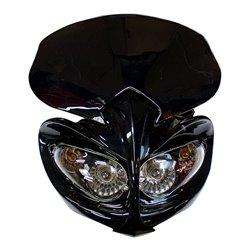 Universal Demon Fairing Headlight With Indicators Black