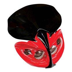 Universal Demon Fairing Headlight With Indicators Red