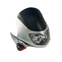 Universal Raptor Fairing Headlight With Indicators Chrome 12V 25/25W