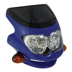 Universal Dash Screen Fairing Headlight Blue