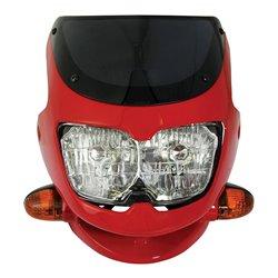 Universal Dash Screen Fairing Headlight Red