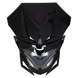 Universal Transformer Fairing Headlight Black 12V 20W