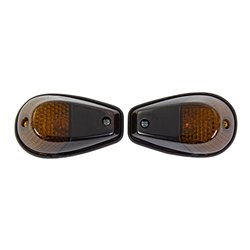 Bike It Original Fairing Indicators With Black Body And Smoked Lens
