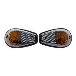 Bike It Original Fairing Indicators With Carbon Body And Smoked Lens