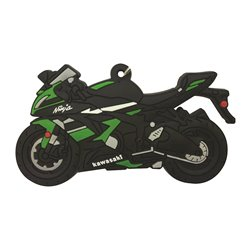 Bike It Kawasaki ZX6R Rubber Keyfob - 115