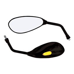 Bike It Patrol Black Universal Mirrors With Built In LED Indicators