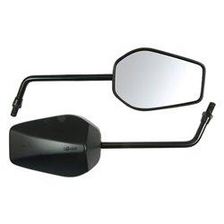 Bike It Black Universal Mirrors With 10mm Thread - U022