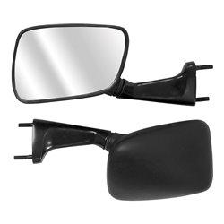 Bike IT Black Universal Fairing Type Mirrors