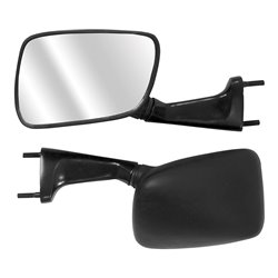 Bike IT Black Universal Fairing Type Mirrors