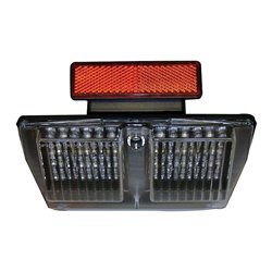 Bike It LED Rear Tail Light With Clear Lens And Integral Indicators - D010