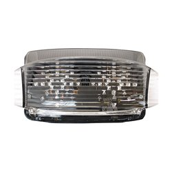 Bike It LED Rear Tail Light With Clear Lens And Integral Indicators - H017