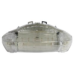 Bike It LED Rear Tail Light With Clear Lens And Integral Indicators - H039