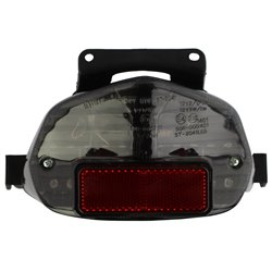 Bike It LED Rear Tail Light With Cool Grey Lens - S109