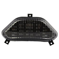 Bike It LED Rear Tail Light With Cool Grey Lens - S151