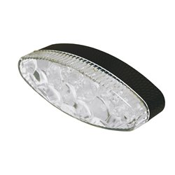 Bike It Tribe LED Rear Light With Black Base And Clear Lens