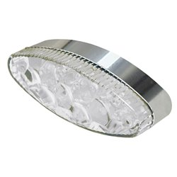 Bike It Tribe LED Rear Light With Chrome Base And Clear Lens