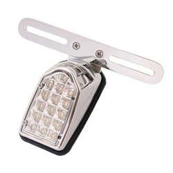 Bike It Mini Tombstone LED Rear Light With Clear Lens