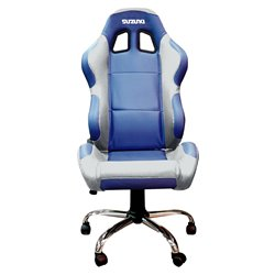 BikeTek Team Chair Blue With Silver Trim - Suzuki
