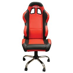 BikeTek Team Chair Red With Black Trim - Aprilia