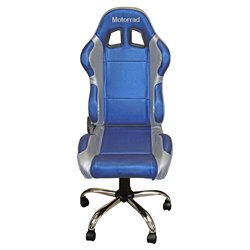 BikeTek Team Chair Blue With Silver Trim - Motorrad
