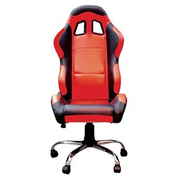 BikeTek Team Chair Red With Black Trim