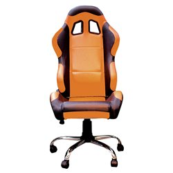 BikeTek Team Chair Orange With Black Trim