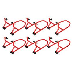 BikeTek Series 3 Rear Track Paddock Stand 6 Pack - Red