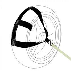 Bike It Tiedown Wheel Brace Black