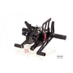 LSL 2-slide footrest system BMW S1000RR, 17-, black