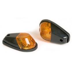 Knipperlichtset kuip zwart met oranje glas
